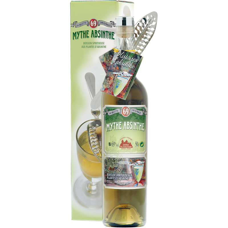 Mythe Absinthe DISTILLERIE DES TERRES ROUGES 69% - 50cl Distillerie des terres rouges - 1