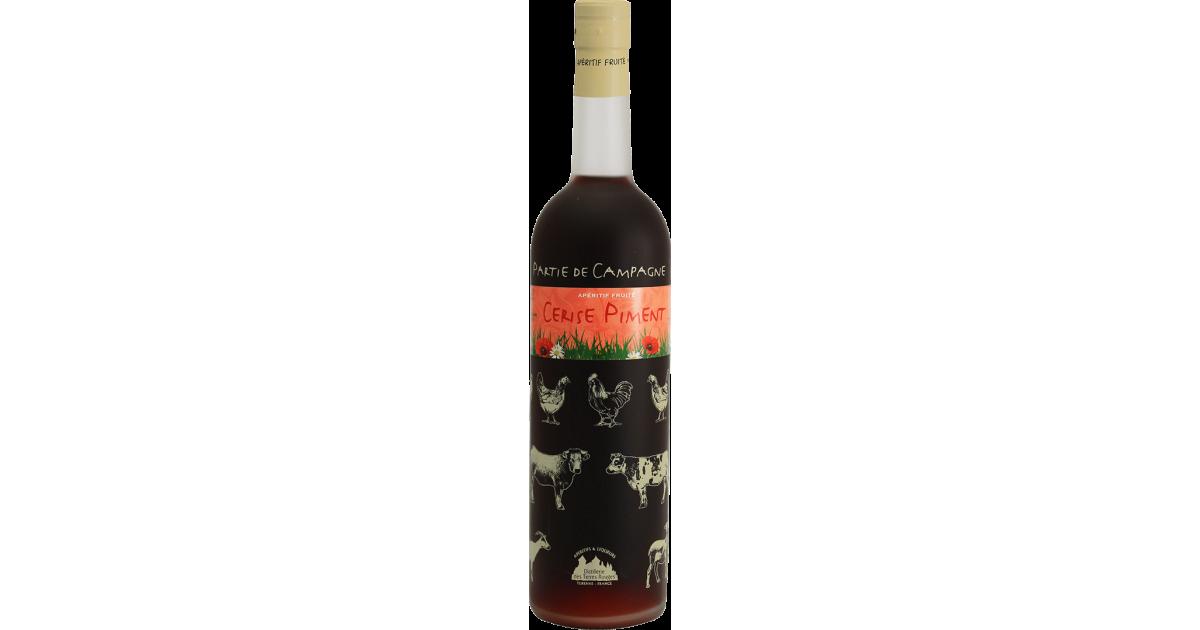 Partie de Campagne - Cerise Piment Vin aromatisé DISTILLERIE DES TERRES ROUGES 12% - 75cl Distillerie des terres rouges - 1