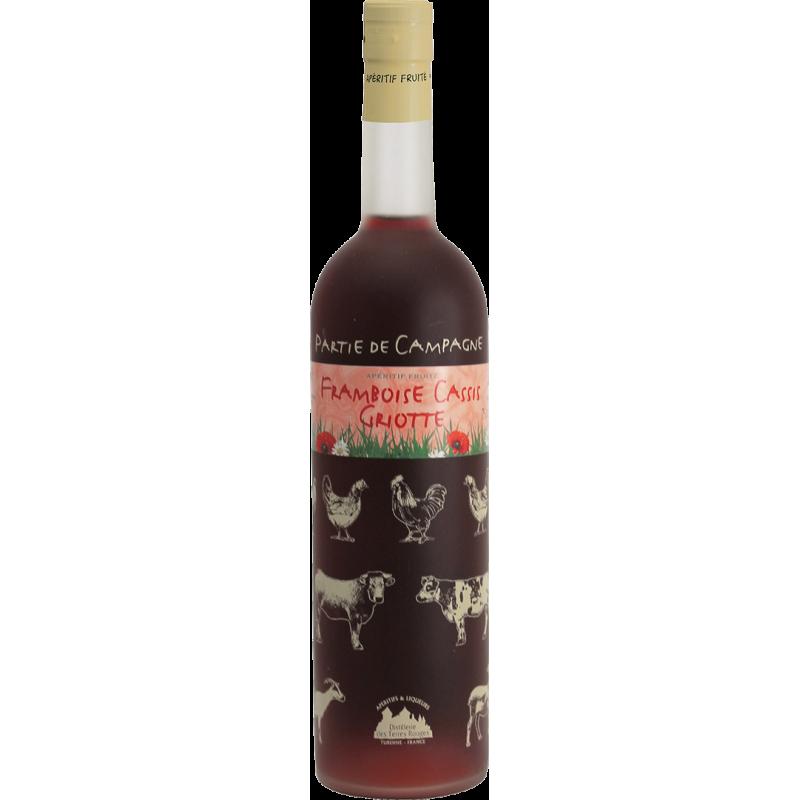 Partie de Campagne - Framboise-Cassis-Griotte Vin aromatisé DISTILLERIE DES TERRES ROUGES 12% - 75cl Distillerie des terres roug