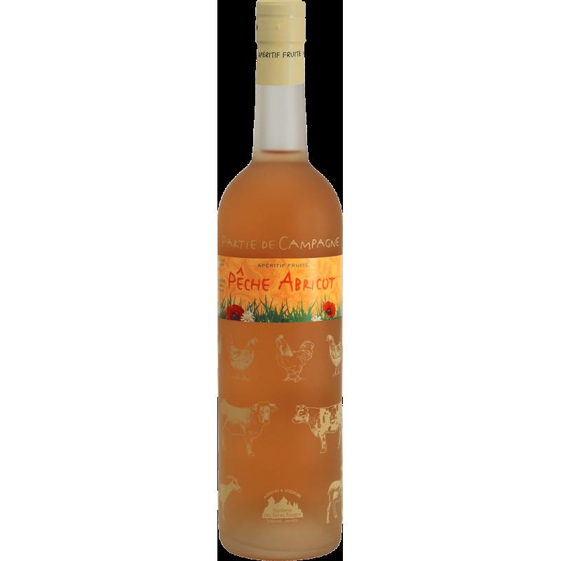 Partie de Campagne - Pêche-Abricot Vin aromatisé DISTILLERIE DES TERRES ROUGES 12% - 75cl Distillerie des terres rouges - 1