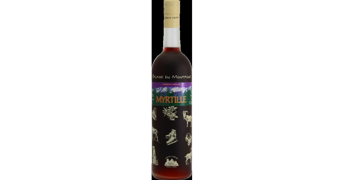 Balade en Montagne - Myrtille Vin aromatisé DISTILLERIE DES TERRES ROUGES 12% - 75cl Distillerie des terres rouges - 1