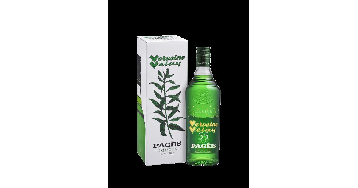 Liqueur Verveine du Velay sous étui PAGÈS 55% - 70cl Pagès - 1