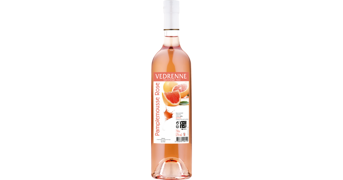 Vin aromatisé Pamplemousse Rose VEDRENNE 12% - 75cl Vedrenne - 1